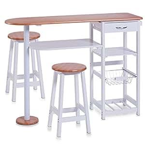 Kesper Küchenbar mit 2 Stühlen Küchentisch Küchenmöbel