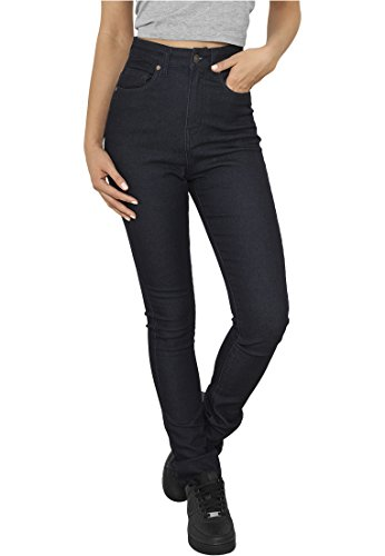 Urban Classics Ladies High Waist Denim Skinny Pants Jeans donna blu scuro W25L32