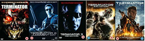 Terminator Pentalogy Complete 1-5 (5 Discs) DVD Collection: Terminator 1 / Terminator 2: Judgement Day / Terminator 3: Rise of the Machines / Terminator 4: Salvation / Terminator 5: Genisys + Extras by Arnold Schwarzenegger