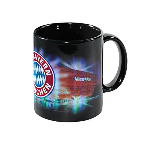 Tasse Arena Metallic + gratis Sticker, FC Bayern München FCB Cup, mug, gobelet, cubilete,