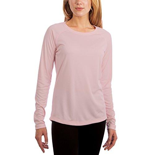 Vapor Apparel Damen Atmungsaktives UPF 50+ UV Sonnenschutz Langarm Funktions T-Shirt M Blüten Pink