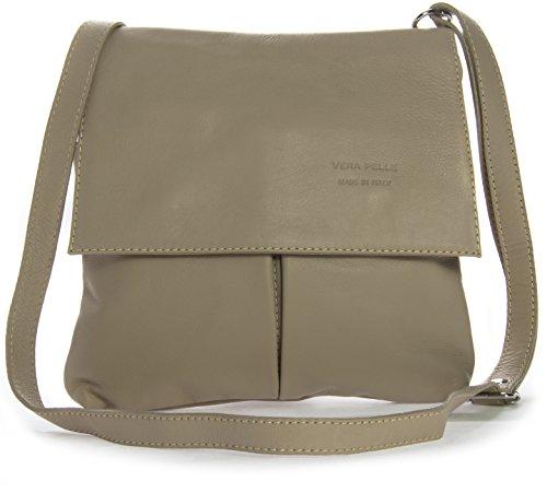 Big Handbag Shop, tracolla da donna, grande Beige (Beige medio)