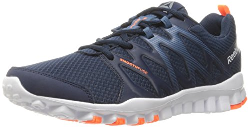Reebok Men s Realflex Train 4.0 Running Shoe Collegiate Navy/Brave Blue/White/Wild Orange/Pewter 8 D(M) US  available at amazon for Rs.11970