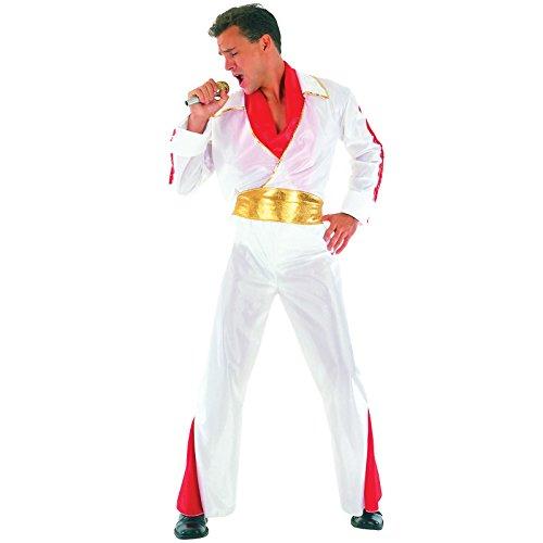 48-52 Kostüm Elvis Sänger Pop King Verkleidung Musik VIP Karnevalskostüm (Pop-musik Kostüme)