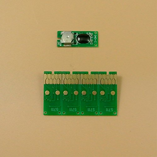Syoon 5pezzi per Epson WorkForce WF3620WF3640WF7110WF7610WF7620stampante T6711Maintenance Tank rifiuti serbatoio inchiostro chip