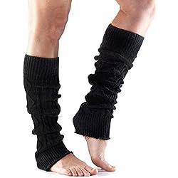 Toesox Legwarmer rodilla alta para baile, Yoga, Pilates, Fitness-Fashion calentadores, negro