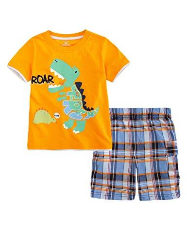 colorful-house-boys-summer-short-sleeve-t-shirt-shorts-setdinosize-5t