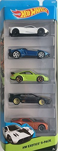 Hot Wheels, 2015 HW Workshop, HW Exotics 5-Pack [Version 2] by Mattel