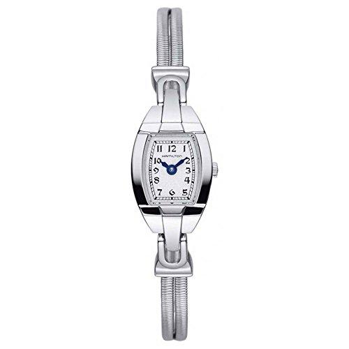 Hamilton American Classics Femme Montre à quartz avec cadran argenté, affichage analogique et bracelet en acier inoxydable Argenté h31111183