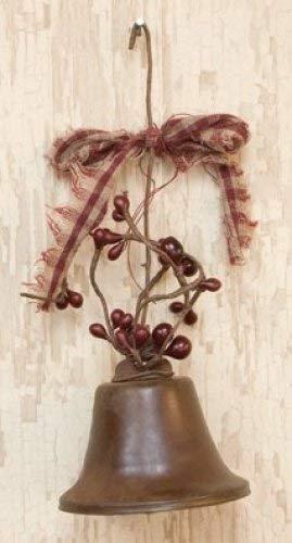 Rustikal Liberty Bell Pip Beeren Stoff Schleife Ornament Country Primitiv Weihnachten Urlaub Dekor (Primitive Dekor Weihnachten)