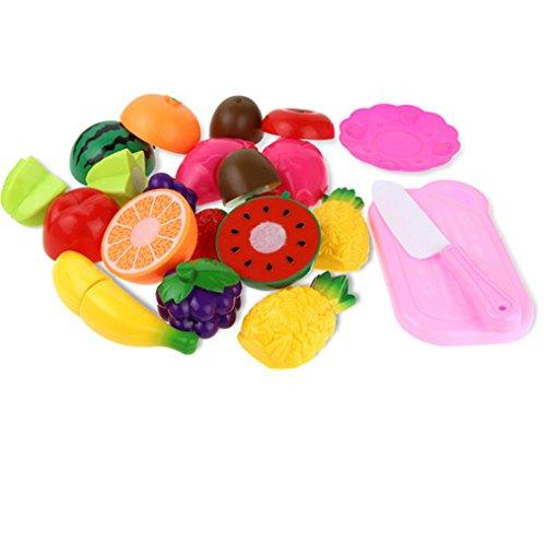 Küchenspielzeug Lebensmittel,Amcool 12PC Rollenspiel Komisch Schneiden Frucht Gemüse Kinder Kind Pädagogisches Geschenke Spielzeug Küche Spielzeug