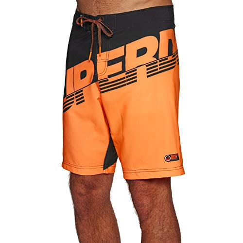 Superdry Hydro Boardshorts Medium Black Havana Orange