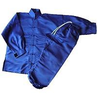 S.B.J - Sportland Kung Fu/Tai Chi Anzug Satin blau, 140 cm