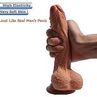 Zwei Layer Silikon Dildo,Soft Realistic Dildo, FDA Genehmigt Real Penis nachbildung Realistischer Dildo für Frauen... preisvergleich bei billige-tabletten.eu