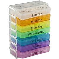 TRIXES Tablettenbox für Medikamente Pillen Kapsel mit Fächern für sieben Tage für die Reise preisvergleich bei billige-tabletten.eu