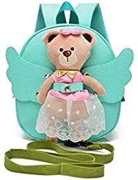 Julvie Cartoon Angel Bear Baby Boys Girls Toddler Kids Backpack For Preschool Mini Travel/School Bag With Safety...