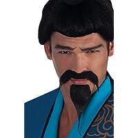 Boland 01800–Moustache et barbe Samurai Noir Taille Unique