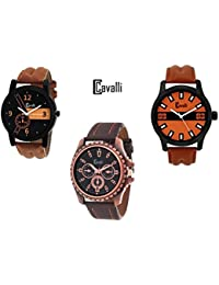 Cavalli Analogue Multi-Colour Dial Men'S And Boy'S Watch-Combo Of 3 Exclusive Watches-CW293