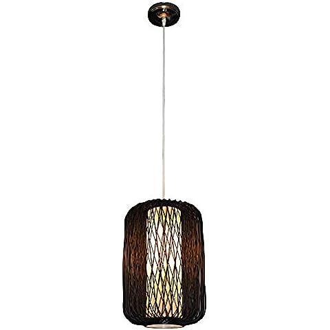 Wandun Lámpara De Lámpara Lámparas Sudeste Asiático Creativo De Bambú Hecha A Mano
