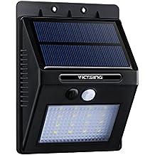 1 Pack Luces Solares LED de Pared Con Sensor Movimiento de VicTsing, Detector Activado Lámpara Exterior para Jardín Patio Camino de Entrada Escaleras,Lluminación de Exterior y Lluminación de Seguridad