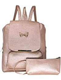 TYPIFY® Artificial Leather Women s Studded Backpack Combo Unique Design  College Office School Casual Bag for 4981a4e56fbdd