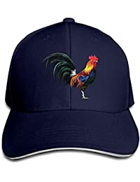Nifdhkw Gallo Realista Logotipo Divertido Moda Unisex Desestructurado  Algodón Gorra Sombrero de béisbol Ajustable Gorras Blanco a7ef92eef84