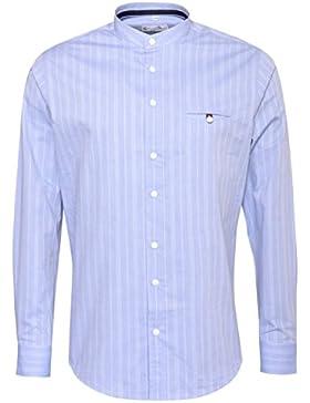 Gweih und Silk Trachtenhemd Body Fit Starnbergersee in Blau