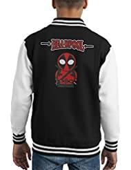 Deadpool Cartoon Figure Kid's Varsity Jacket