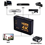Sky Tech® HDMI Switch 4K UHD, 3 Ports Switcher 3 In 1 Out HDMI Switcher Hub Box, Support HDCP, 3D, Full HD 1080p, Ultra HD 2160p, Resolution: Up To 4k At 30Hz For PC Laptop Xbox HDTV HD Projector.