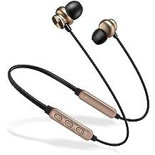 UMCCC Auriculares Bluetooth, audífonos magnéticos de adsorción estéreo en la Oreja, con función de
