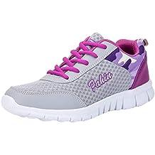 Zapatos de Deporte de Las Mujeres Transpirable con Cordones Calzado Informal Caminar al Aire Libre Correr