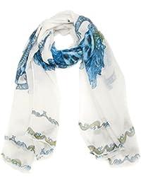 Grand foulard chèche écharpe crânes imprimer - 4 COULEURS