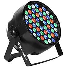 Eyourlife Par LED DMX 512 Faro LED 64 RGBW Proiettore Strobo Effetto Colori 54 x 3W con UE Presa Luce di Fase DJ Discoteca KTV Club Festa Matrimonio - 1 Pezzo