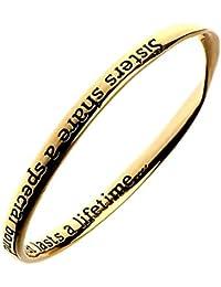Cita joyas: Oro Pulsera: Hermanas compartir una especial Bond pulsera Cita: inscripción: Hermanas compartir una especial Bond... que duran toda una vida...