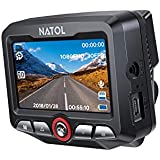 NATOL Dash Cam Full HD 1080P con Super Visione Notturna, Mini Telecamera per Auto, 170º Grandangolo, Registrazione in Loop, G-Sensor, Modo di Parcheggio e Rilevatore di Movimenti