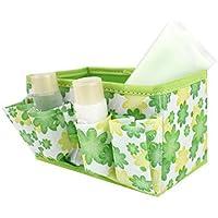 Contenitore trucco, FEITONG cosmetici Storage Box Bag brillante Organizzatore pieghevole stazionario