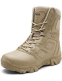 cef762bdce RSHENG Männer Desert Boots New Military Boots tragen taktische Stiefel Sand  Anti-Rutsch-Wanderschuhe Hohe…