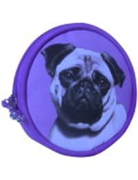 Faithful Friends Pug Dog Portamonete Amante della Borsa Regalo in Lilla o  Rosa 8c67eff5c6c