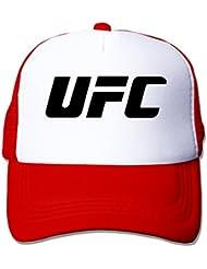 mfsh UFC logo unisex Up ajustable camión gorro Trucker Cap sombrero de malla, talla única