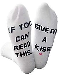 kafiGC8 Calcetines de algodón para hombre y mujer, con texto en inglés «If You