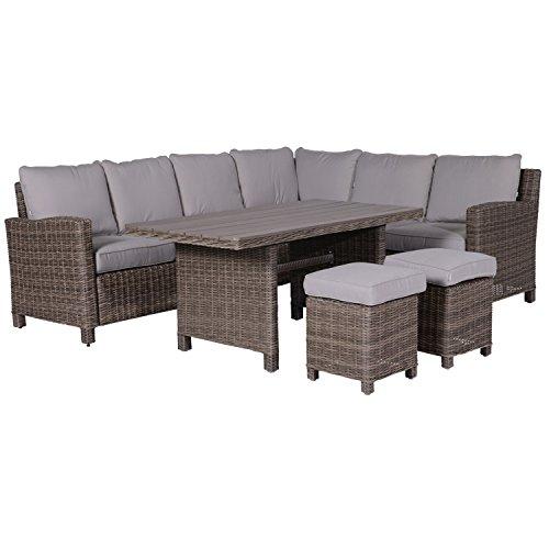 Garden Impressions Lounge/Dinner Set, 5-teilige Gruppe'BOGOTA' - Outdoor Gartenmöbel Sitzgruppe aus...