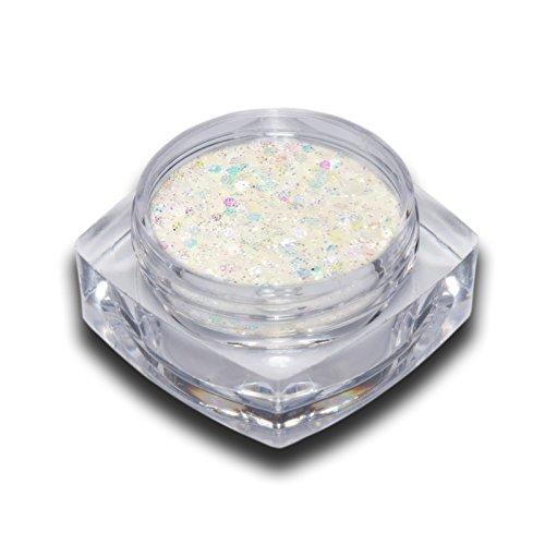 Unicorn Einhorn Glitter Mix Weiss Glitzer Puder Nailart