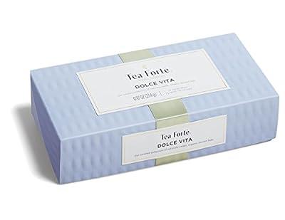 Tea Forte Dolce Vita - Coffret Assortiment thé noir, thé vert et thé blanc 10 pyramides by Tea Forté