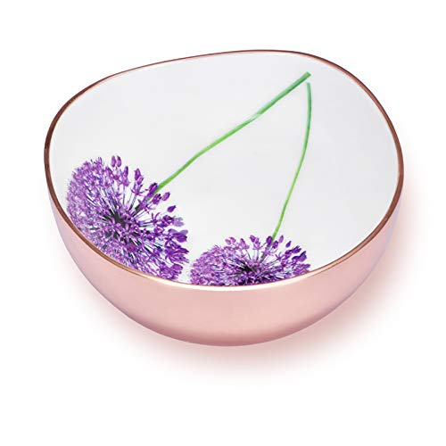Jasper - Designer Multipurpose Bowl with Blossom Pattern for Keeping Nuts, Candy, Dry Fruits, Snacks, Cookies etc. and Also, for Home Decoration (Rose Gold-7.5 inch)