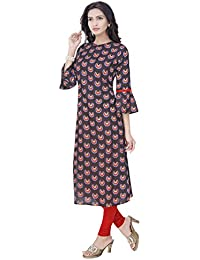 Isha-Studio Cotton Kurtis For Women - Bell Sleeves – Dark Brown
