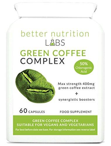 Green Coffee Complex (Grüner Kaffee) 400mg Grünem Kaffee Extrakt und 50% Chlorogensäure (GCA), kombiniert mit synergetischen Zutaten in einer bequemen Kapsel - Better Nutrition Labs