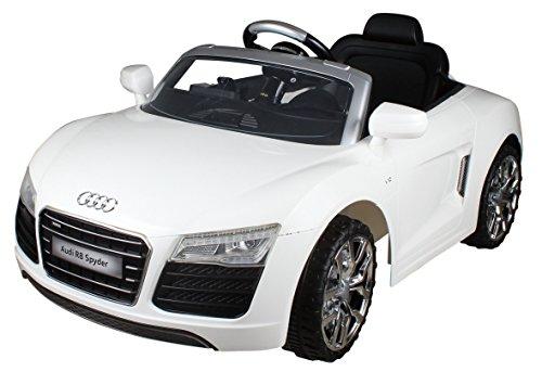 Kinder Elektro Fahrzeug Kinderauto Audi R8 Spyder Weiß (weiß)
