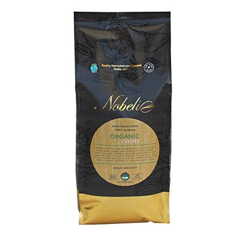 Orgánica tostado grano especialidad Gourmet café, 907g bolsa peso neto