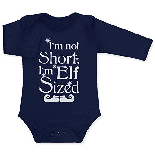 I'm not short I'm elf sized Baby Langarm Body 18M Marineblau