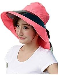 SMO Chapeau pliable de femme contre rayons ultra-violets avec 4 couleurs (rouge)